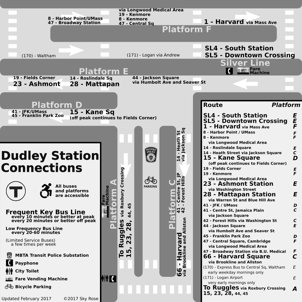 Square, grayscale map of Dudley Station